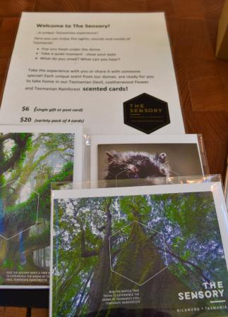 Richmond, Australia: Scented gift cards, so you can take The Sensory home.. or share with a friend.