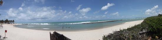 Barra do Cunhau, RN: Panorâmica da praia da barra em Cunhaú, a partir do quiosque da Baiana