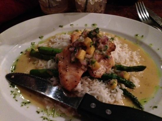 Washington, IL: Melt in your mouth sea bass over rice!