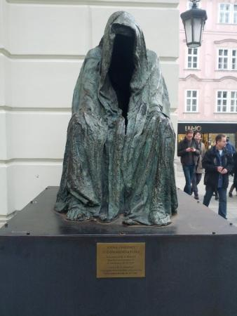 Prague, Czech Republic: Statue dedicated to the Premiere of W.A.Mozarts Don Giovanni