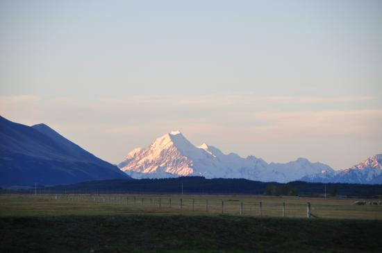 Twizel, New Zealand: Uitzicht op Mount Cook