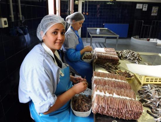 """Les """"dépeceuses"""" d'anchois font aussi la mise en boite - Picture ..."""
