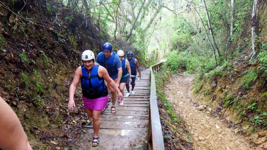 Cabarete, Dominican Republic: hiking up and up into the jungle