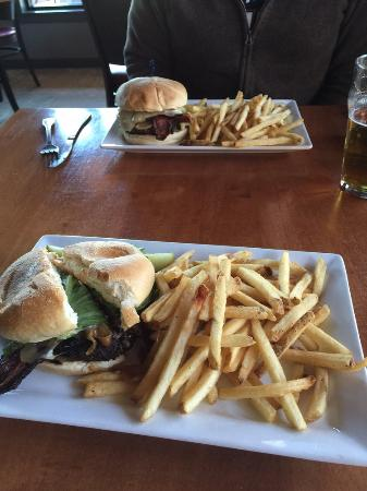 Black Cap Grille : Make your own burger and Swiss burger
