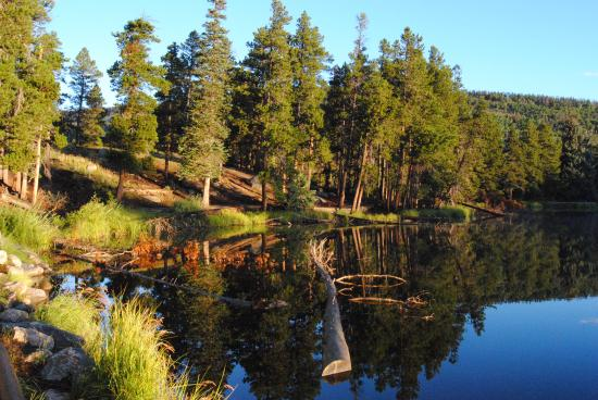 Rams Horn Village Resort: Sunrise reflection photo at Sprague Lake in RMNP