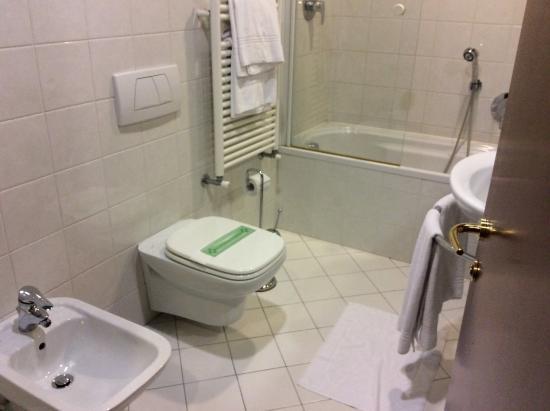 Hotel Plaza Padova: Большая ванная