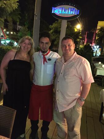 Ristorante BellaBlu : Our last night with Kadir.