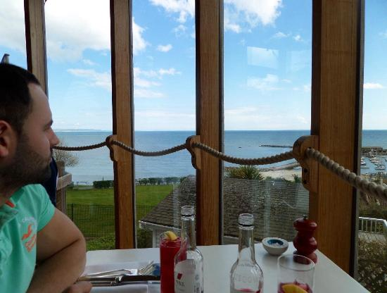 Hix Oyster & Fish House: The view from our window seat