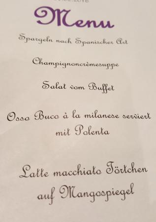 Ulrichen, Schweiz: Halfpension menu :-)