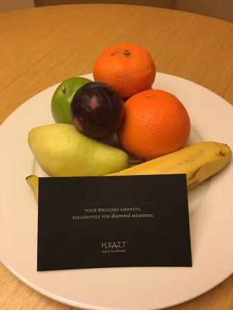 그랜드 하얏트 이스탄불: welcome gift for Hyatt Diamond member