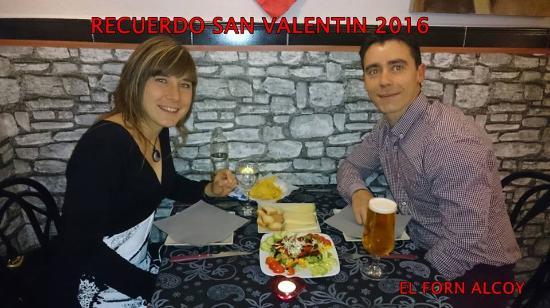 Restaurante Bar El Forn : Cena de San Valentin