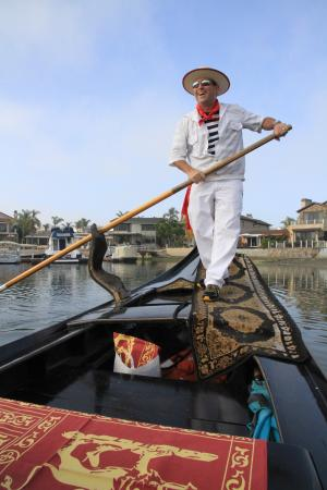 Gondola Adventures Inc Greg The Gondolier At Newport Beach