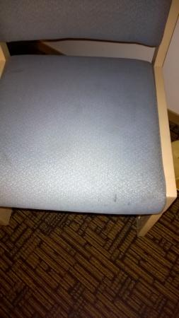 Super 8 Yuma: Stains on guest room chair.