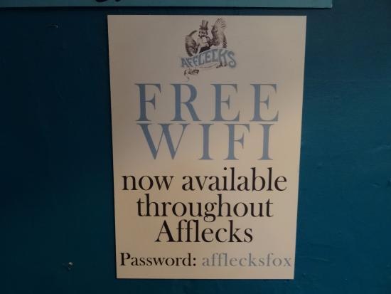 Afflecks: Free WiFi