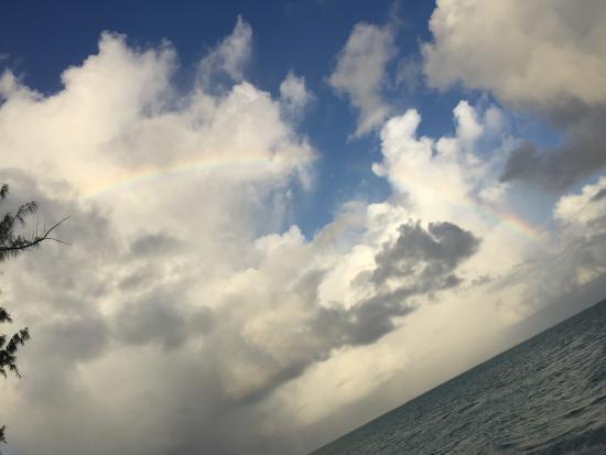 Hollywood Beach Suites Turks and Caicos: Today's rainbow.