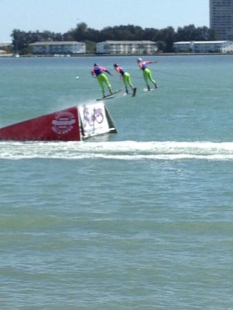 Sarasota Ski-A-Rees Water Ski Show: Executing perfect jumps