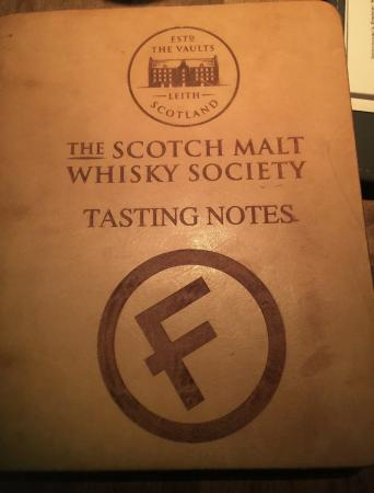 Tasting Notes book - Picture of Fets Whisky Kitchen, Vancouver ...