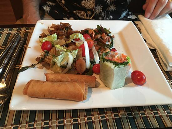 Ahan Thai Kitchen: Egg rolls and other goodies.