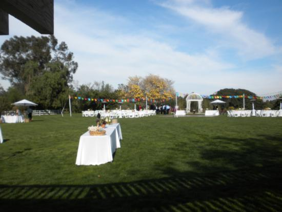 South Coast Botanic Garden Setting Up For A Wedding