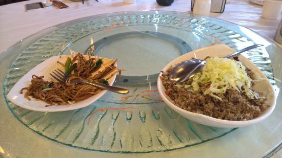 Eight Treasures Vegetarian: Olive Fried Rice & Tofu Vegetable