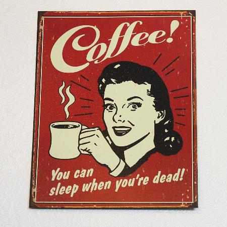 Aveline: Vintage Coffee Sign