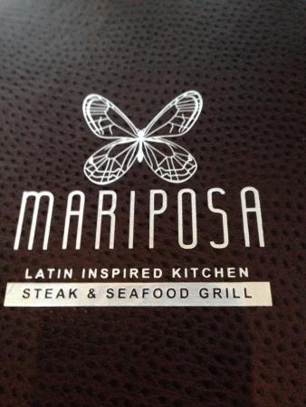 Menu - Picture of Mariposa Latin Inspired Grill, Sedona - TripAdvisor