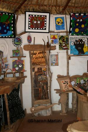 Inside The Mud Palace Gallery, Africa Village, Treasure Beach, Jamaica