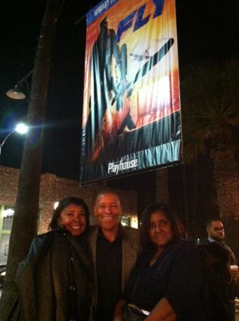 Pasadena Playhouse: My family standing outside in the quad.