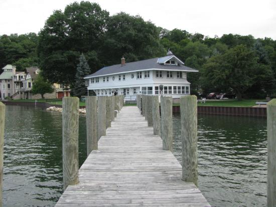 Macatawa, MI: The Boathouse from end of Dock