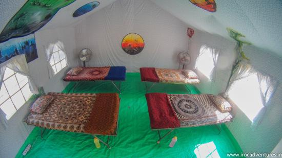 Sri City, India: Deluxe Swiss tents inside look