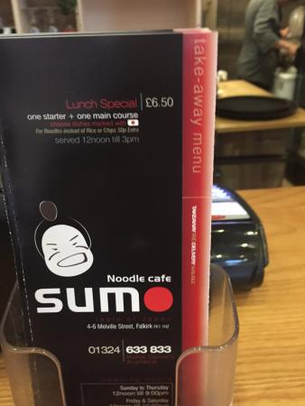 Sumo Noodle Bar: The Menu