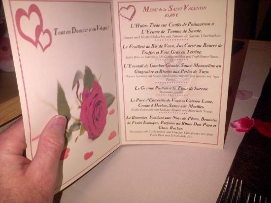 Seltz, França: le menu de la Saint Valentin