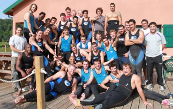 Porcieu-Amblagnieu, Francia: Photo d'équipe après une belle descente!
