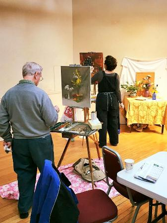 Rockport Art Association & Museum : painting in the galleries