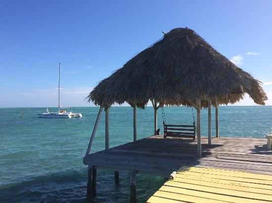 Costa Maya Beach Cabanas: The Costa Maya private deck