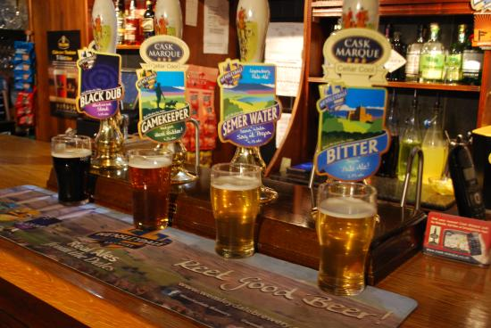 Carlton, UK: lots of local cask ales at the Foresters ARMS