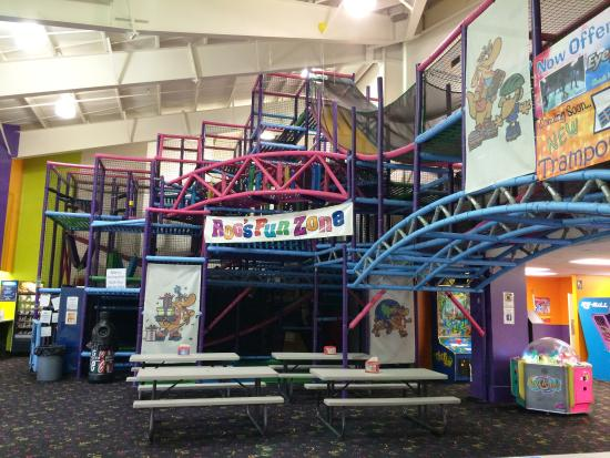 Mount Laurel, NJ: Children 10 & under can climb, slide, and play in ISC's FunZone!