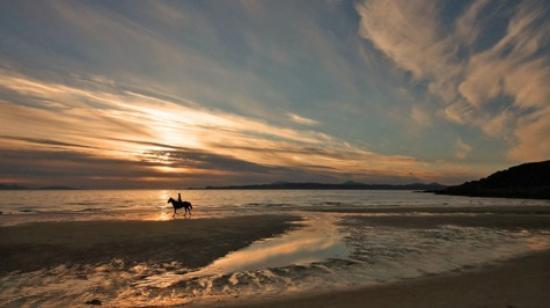Morar, UK: Camusdarach Beach at sunset.