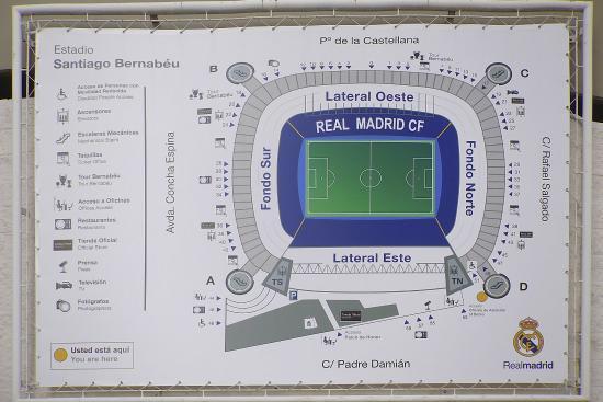 Plano estadio santiago bernabeu madrid fotograf a de for Puerta 53 bernabeu