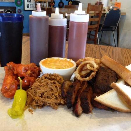 Joe's Garage BBQ : Some of Joe's signature items featured in the 2015 book Indiana Delicious!