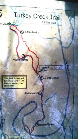 Turkey Creek Trail map - 2.7 miles - Picture of Emma Long ... on