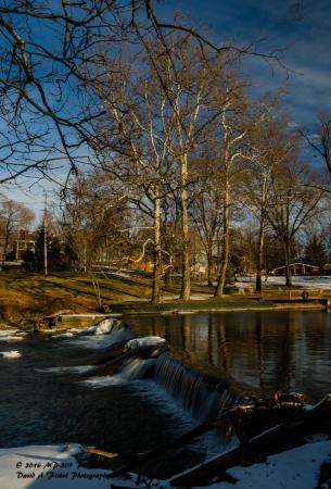 Pendleton Falls Park: Lower Falls on the Fall Creek - the namesake for the City Park.