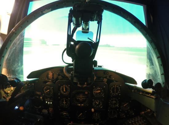 Real Aircraft Controls - Picture of Top Gun Flight Simulator