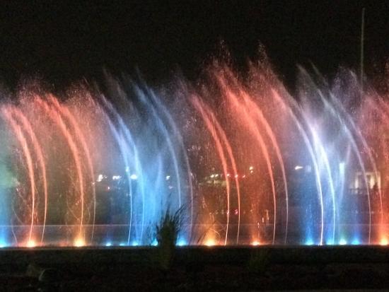 Arkansas River Trail: Dancing Fountains at WaterWalk
