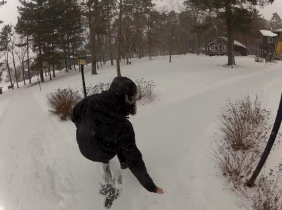 Grand View Lodge: After a fresh snow, we had our GoPros on for a snowshoe video...this is midfall