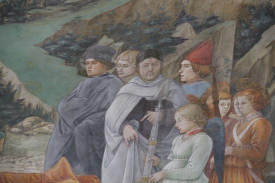 Spoleto, Italy: На фреске Фра Филиппо Липпи изобразил себя, положение его рук символично