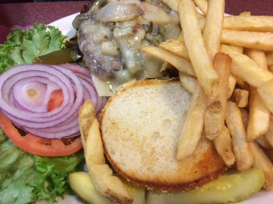 The Shack Restaurant: Cheese Burger with crisp French Fries