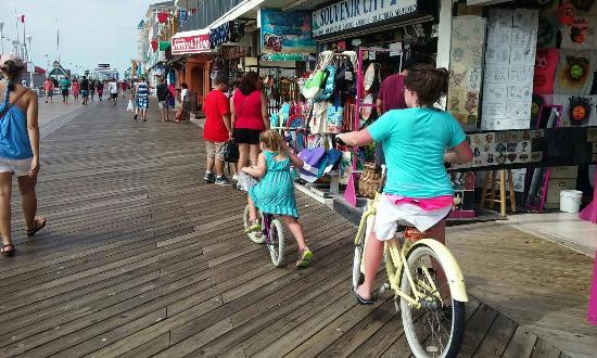 ocean city maryland biking on the boardwalk picture of ocean city rh tripadvisor com