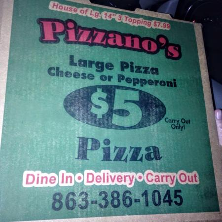Sebring, Flórida: Unbelievable deal on large pizza carry out! Delicious flavor, fresh ingredients and great crust.