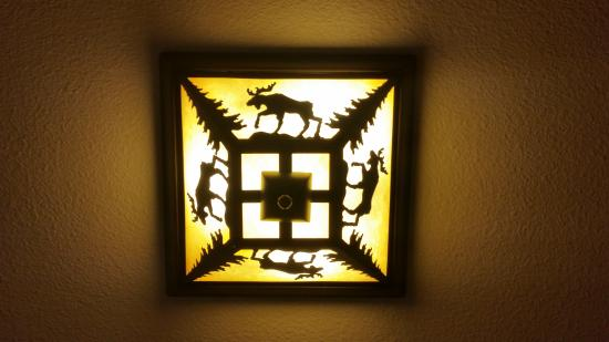 Truckee Donner Lodge: Lovely detail - light fitting
